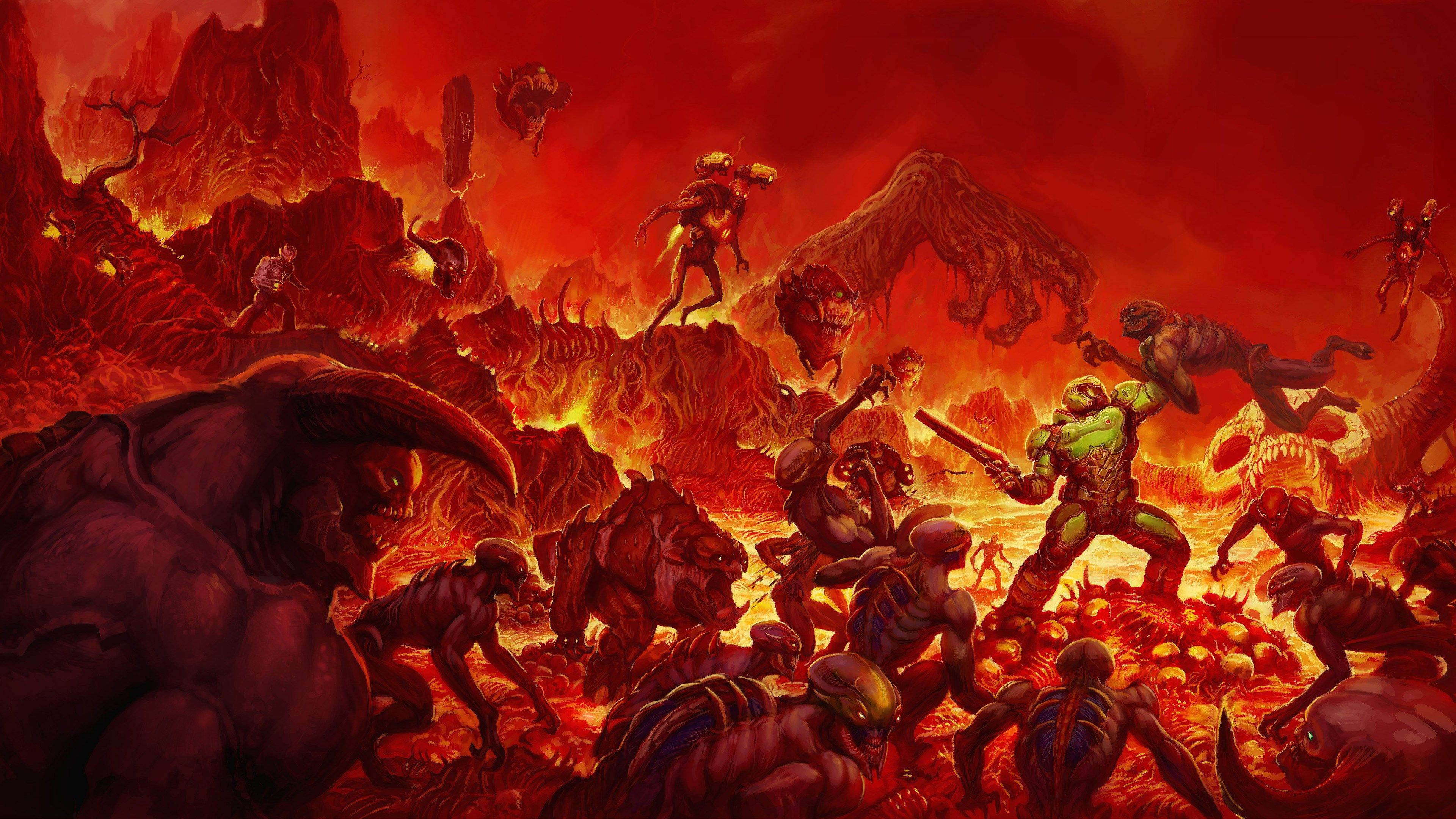 3840x2160 Hd Wallpaper Doom 2016 Doom 2016 Doom 4 Doom Cover