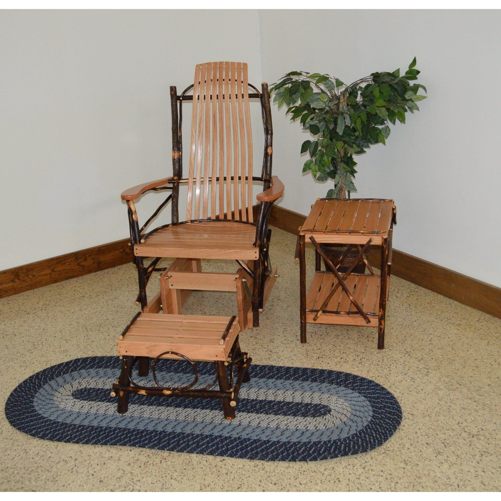 A & L Furniture Co. Amish Bentwood Hickory Glider Rocker