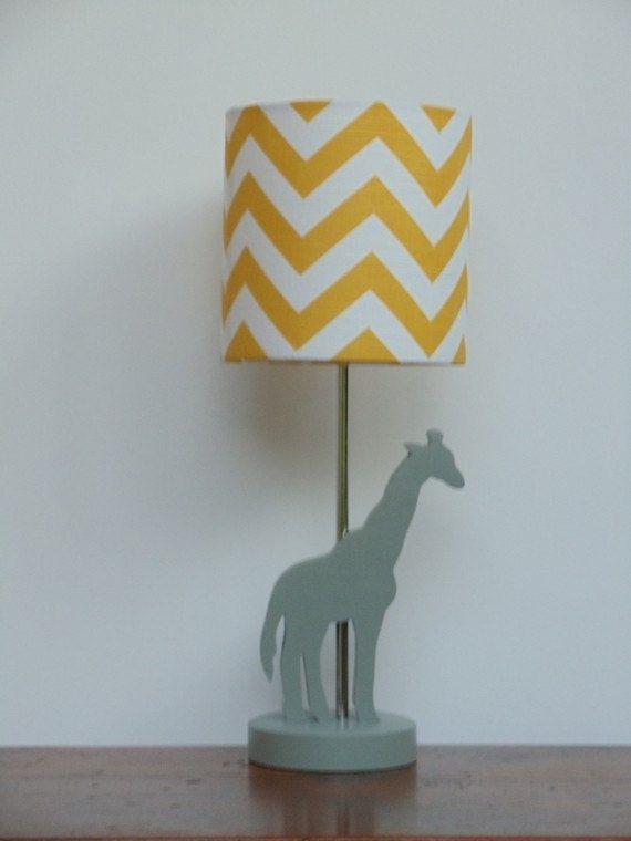 Handmade Giraffe Lamp Base Wooden Animal Desk Or Table