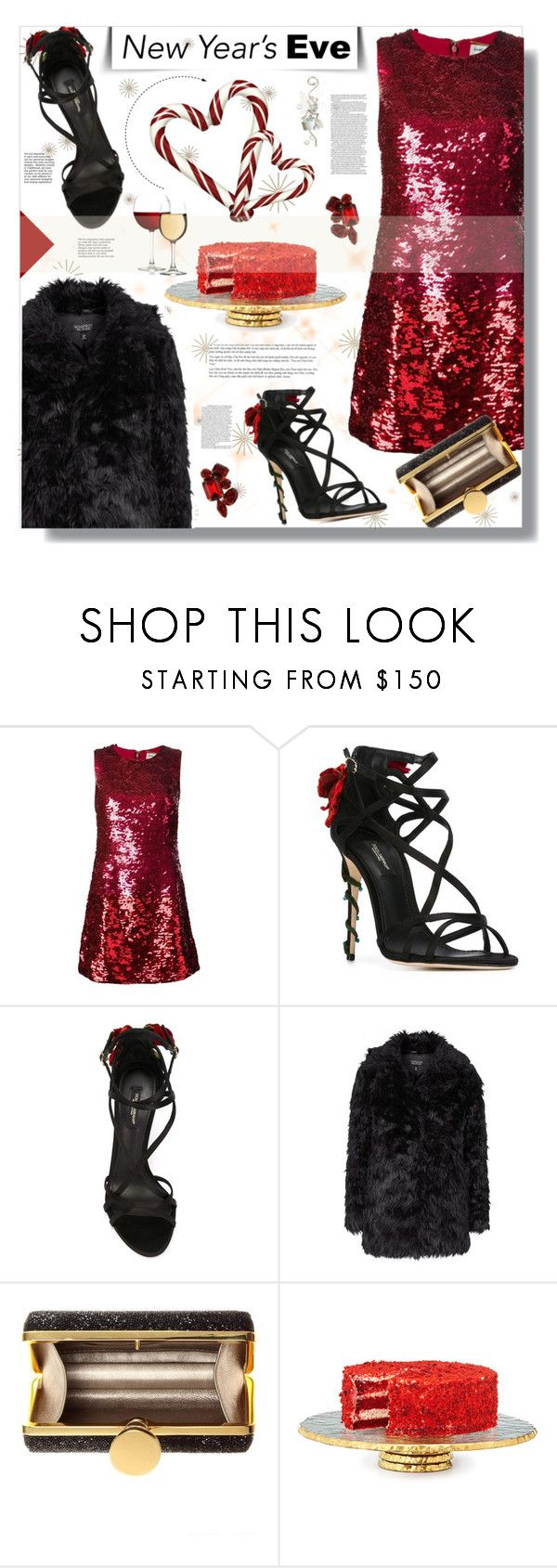 NYE Dance Party by prigaut on Polyvore featuring Yves Saint Laurent, Topshop, Dolce&Gabbana, Tom Ford, Tiffany & Co., danceparty and newyear