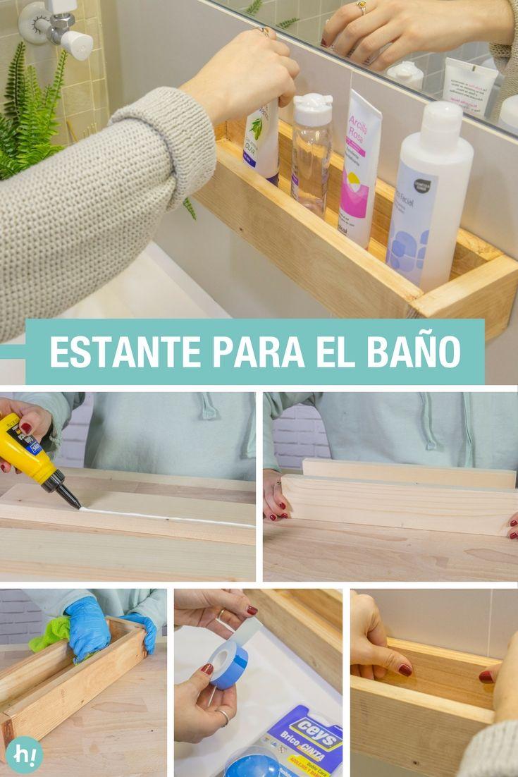 Estante organizador de madera para el ba o en 2019 ideas - Organizadores hogar ...
