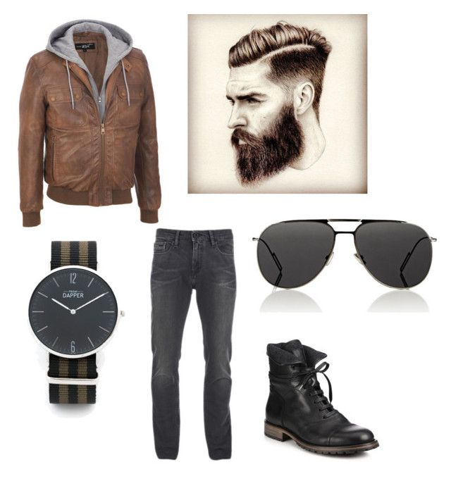 """""""An Elegant Man's Street Style."""" by sanestyle ❤ liked on Polyvore featuring Calvin Klein, Belstaff, Dior Homme, men's fashion and menswear"""