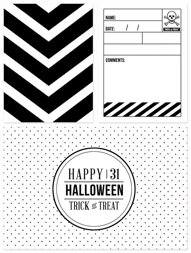 Halloween Journaling + Filler Cards | Journaling, Free printable and ...