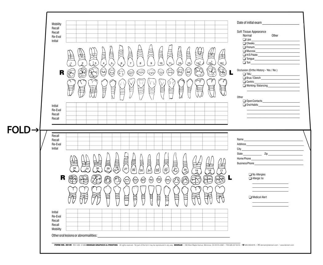 periodontal chart template - pediatric dental charting forms teeth google image