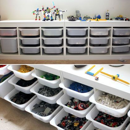 Used This For My Son S Legos Great Storage Idea Lego Storage Bins Ikea Trofast System Lego Room Lego Storage Solutions Storage And Organization