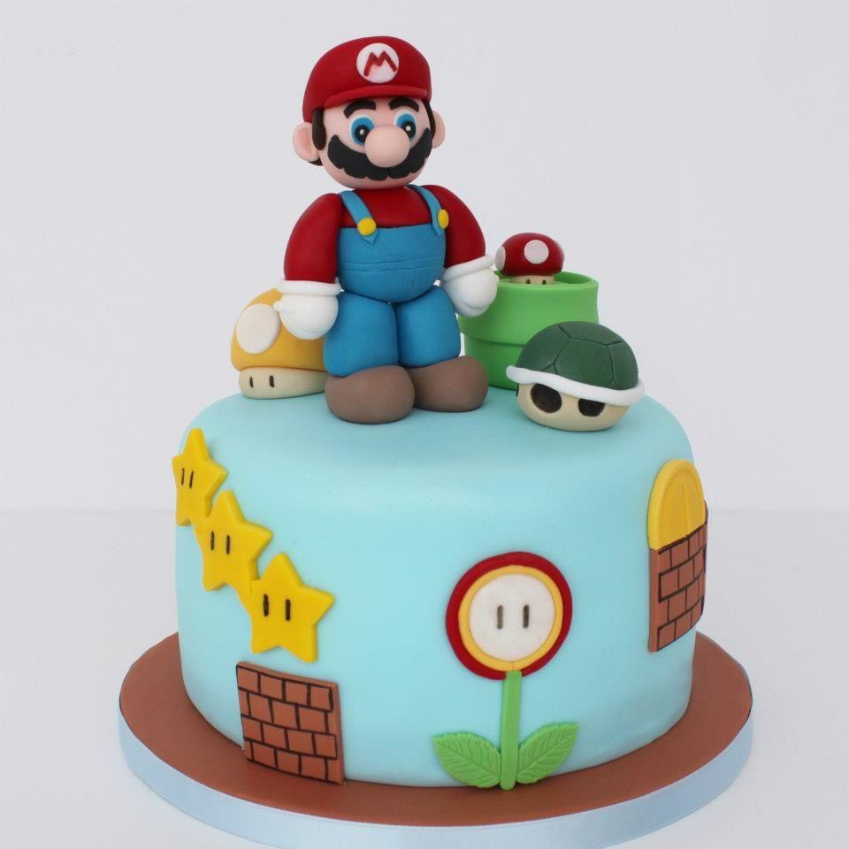 Tarta infantil de Super Mario Bros.