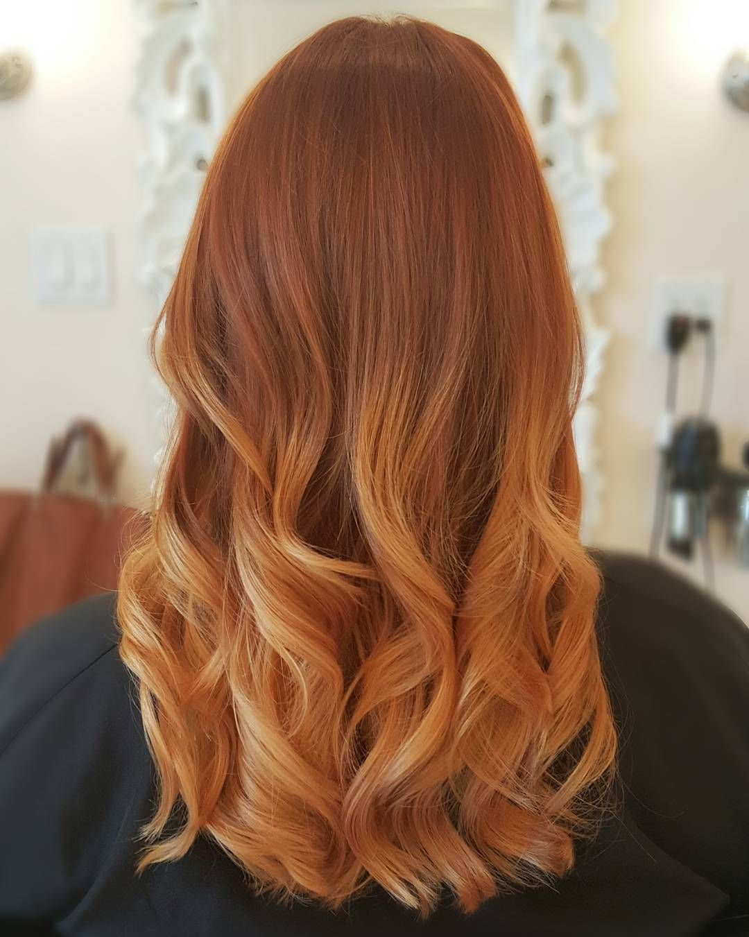 copper blonde ombre balayage la beautique beauty the boss pinterest cheveux. Black Bedroom Furniture Sets. Home Design Ideas