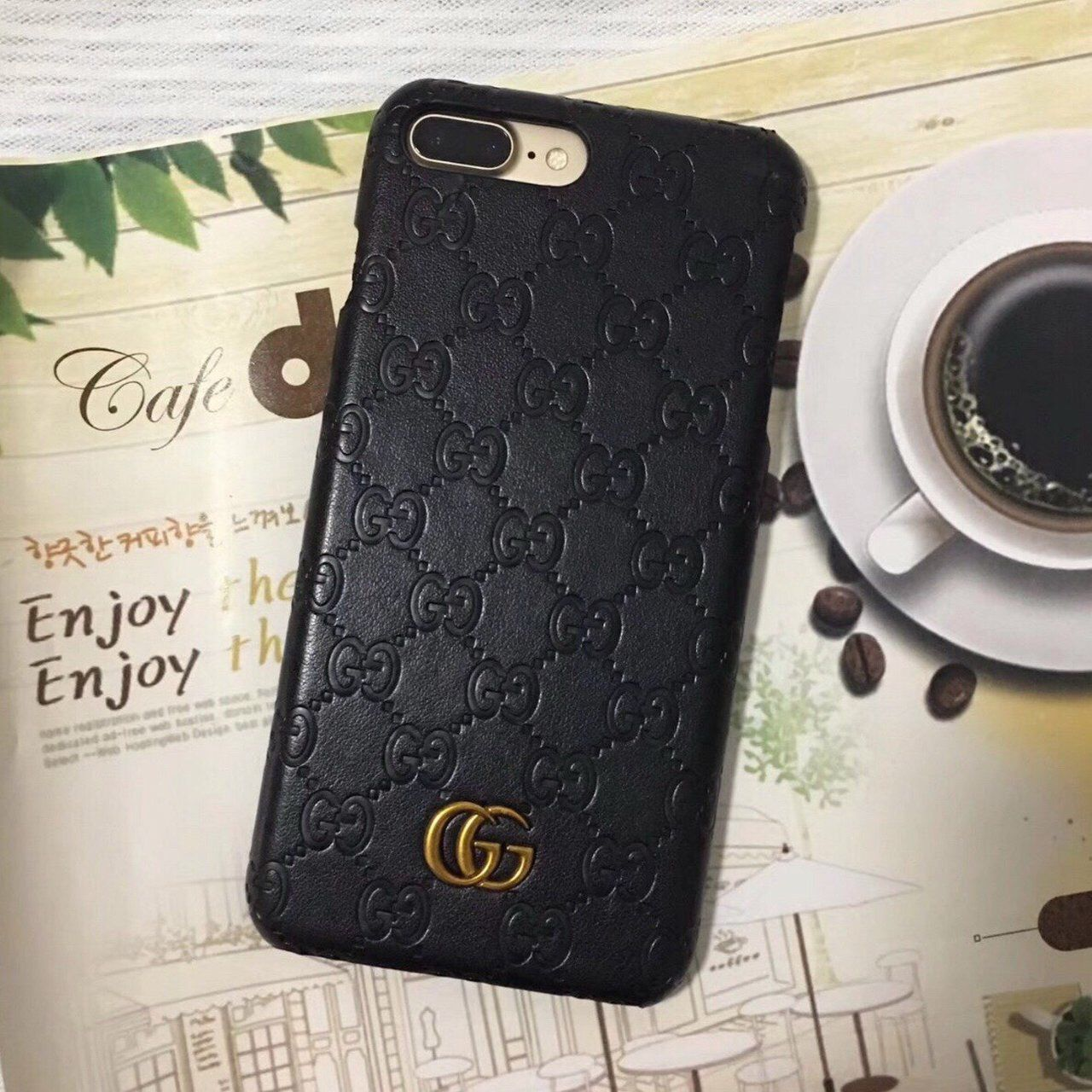 3522ba4107940c Apple iPhone 8s Plus Leather Gucci Case #appleiphone #gucci #freeshipping