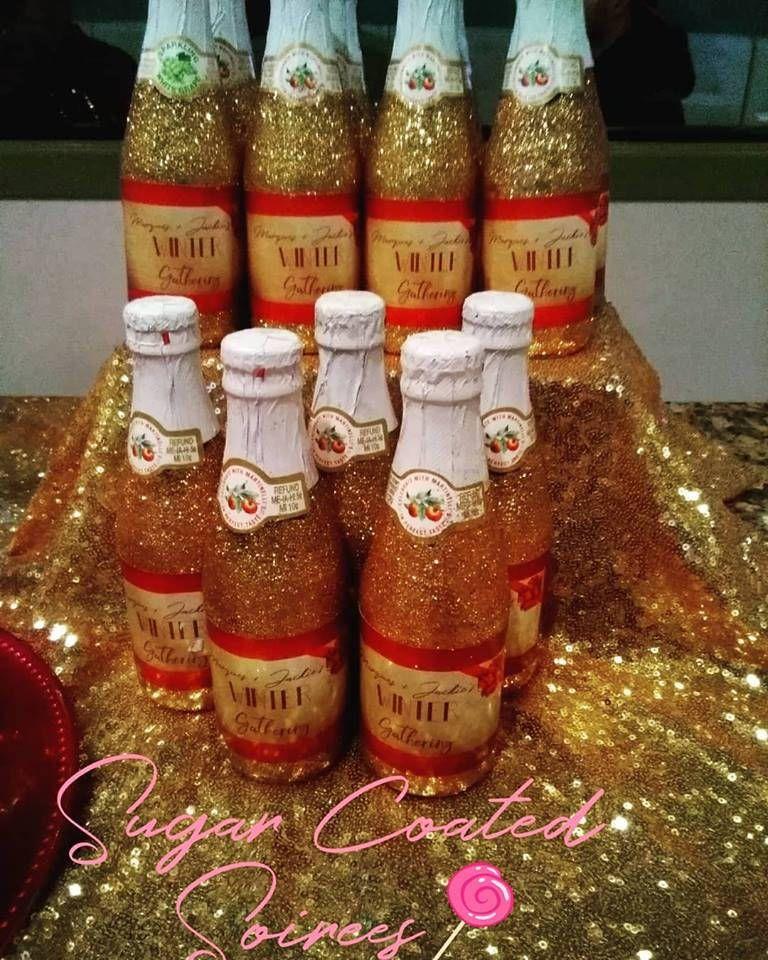 Gold Glitter Bling Sparkling Apple Cider Personalized