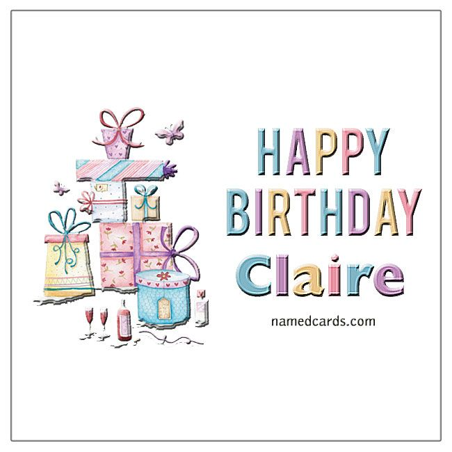 Happy Birthday Claire Card For Facebook