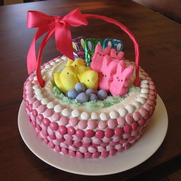 Easter Basket Cake Recipe Easter Candy Cake Decorating Cake