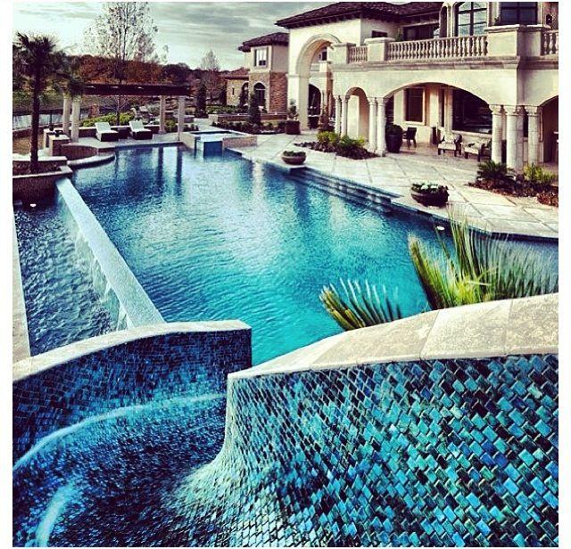 Amazing Pool Slide Fancy Living Pinterest Pool Slides House And Swimming Pools