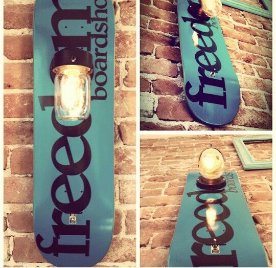 Skateboard Lamp skate board lamp, sk8 lamp, skateboard lamp | for the home
