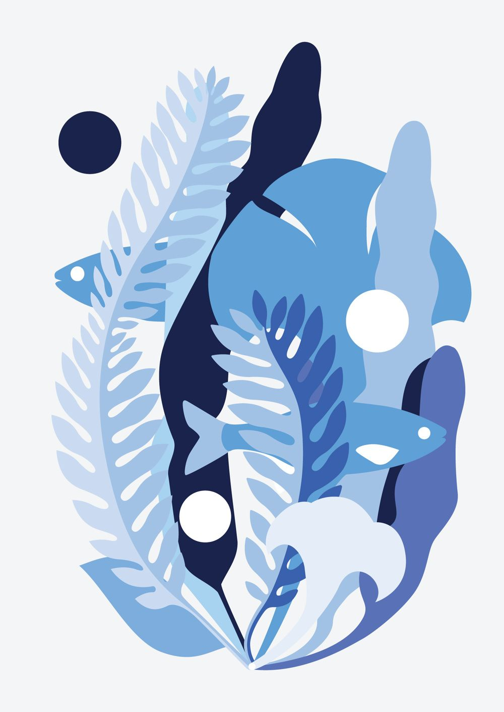"I was invited to create a poster for an exhibition about the updated UN's Global Goals held by glugevents. My goal was  ""Life Below Water"". The poster was shown at the House of Vans in London. The idea of this artwork was to create a positive col..."