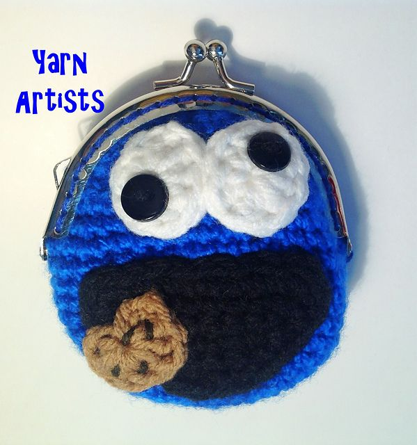 free Ravelry: Cookie Muncher (Cookie Monster Inspired) Coin Purse ...