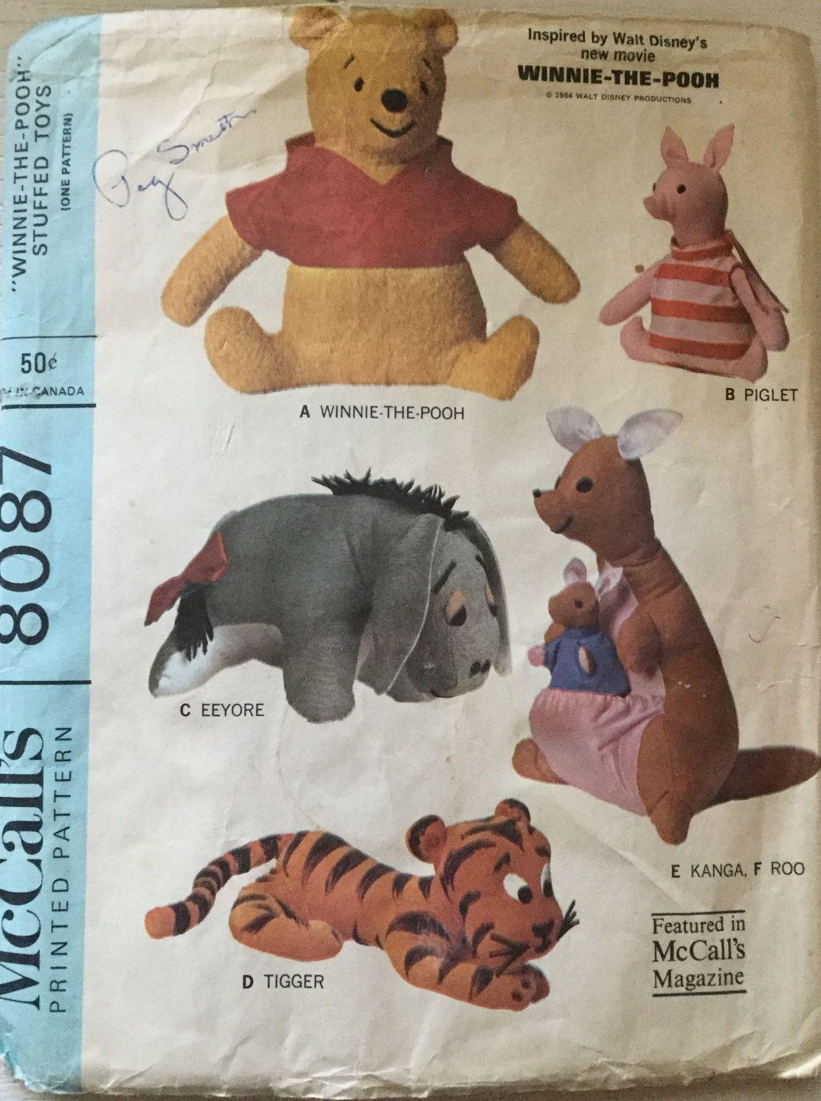 Mccalls 8087 disneys vintage winnie the pooh friends stuffed mccalls 8087 disneys vintage winnie the pooh friends stuffed animal toys jeuxipadfo Choice Image