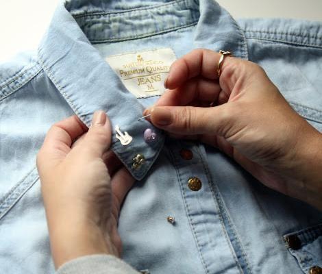 Customizar ropa con pendientes