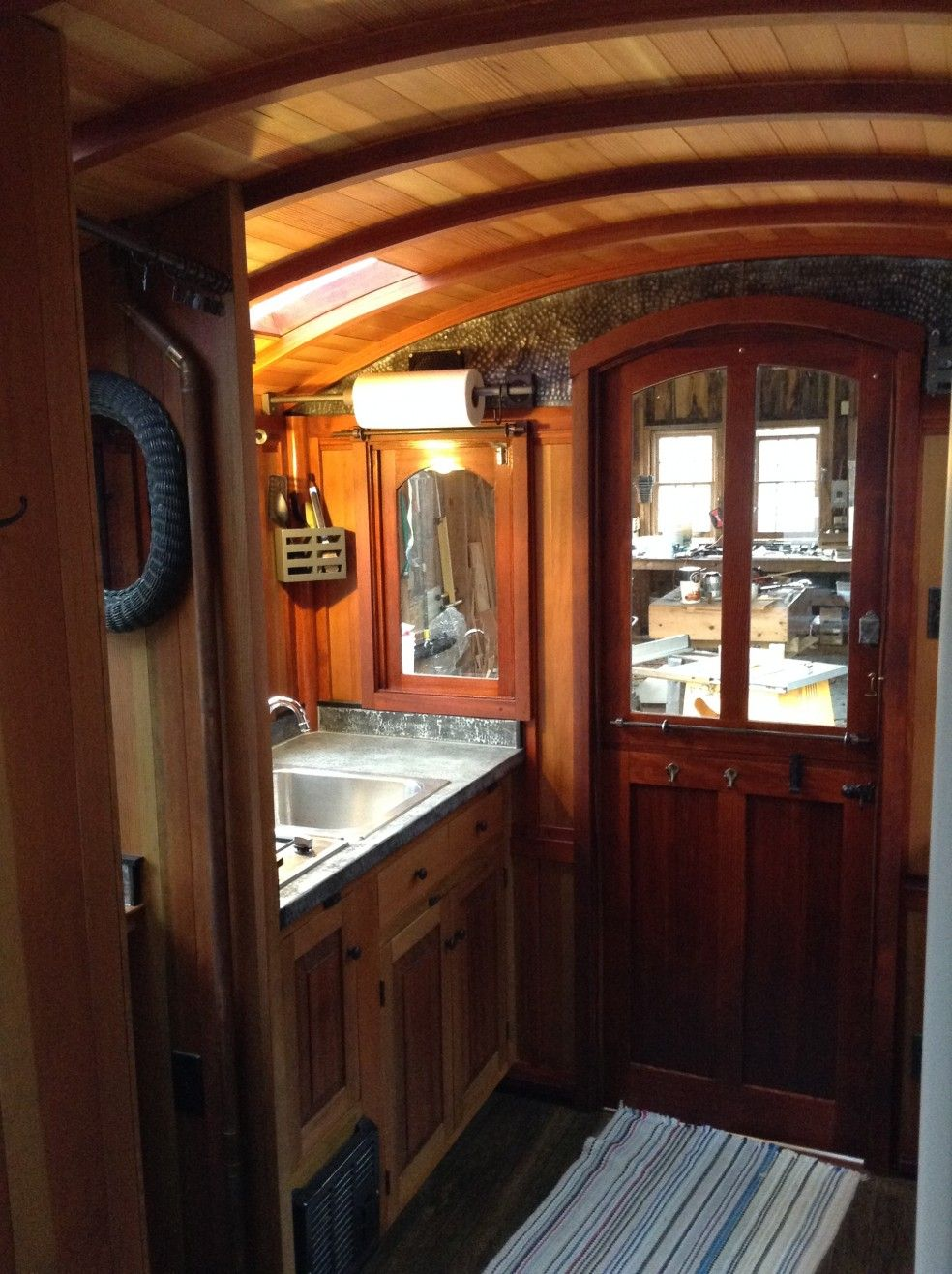 Interior Photos Of Greg Ryan S Gypsy Wagon Tiny Houses