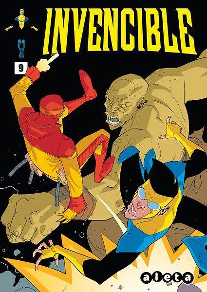 Portada del #Invencible Nº9 de Cory Walker. Edición española de Aleta Ediciones para la edición digital en #Koomic.