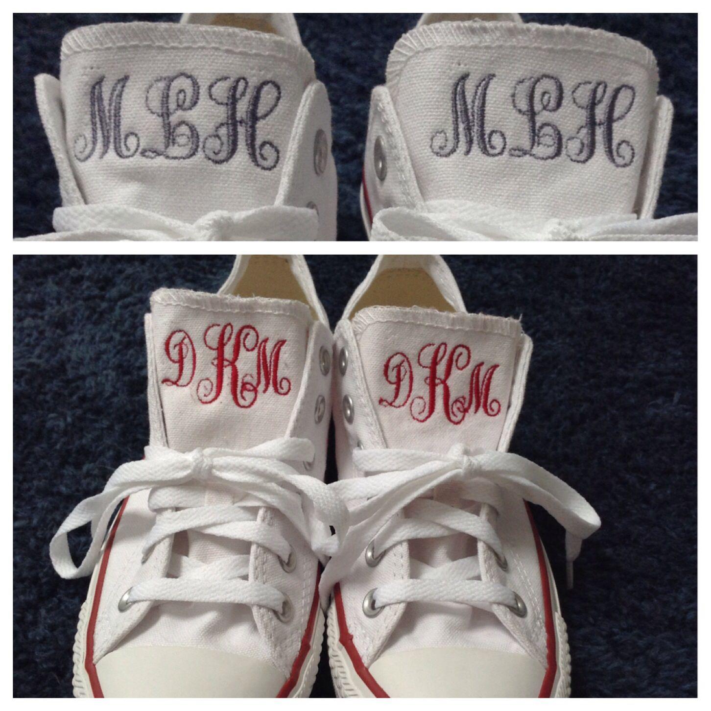 Monogrammed Converse sneakers.  What fun!   https://www.etsy.com/listing/200827540/monogram-sneakers-converse
