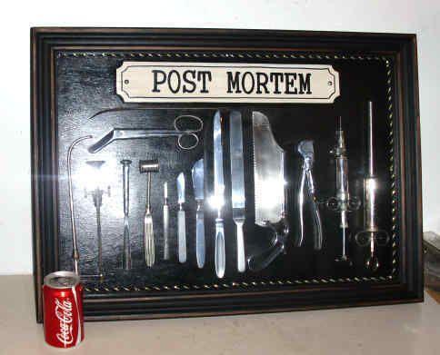 RARE ANATOMICAL MORTICIAN POST MORTEM AUTOPSY MEDICAL INSTRUMENTS SET IN CASE.   eBay