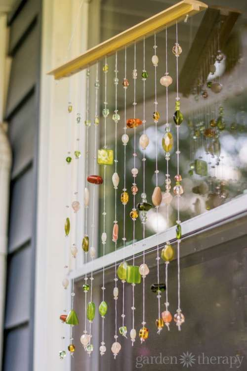 Make A Beaded Suncatcher Mobile Decorate A Dull Looking