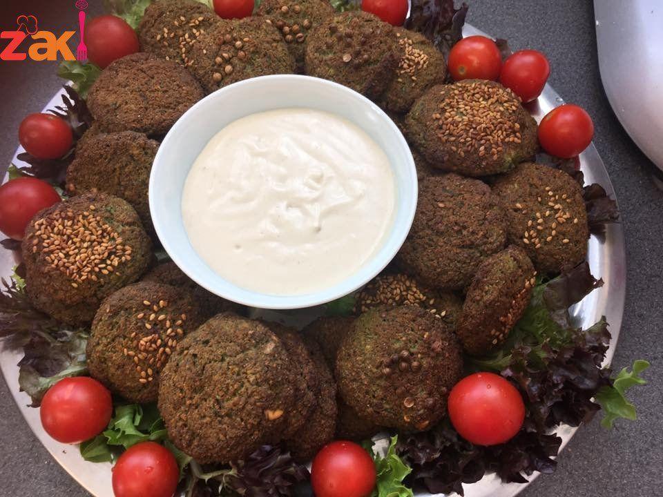 هذه هي الطريقة لعمل فلافل مشوي بالفرن مقرمش من برا وطري من جوا زاكي Food Recipes Arabic Food