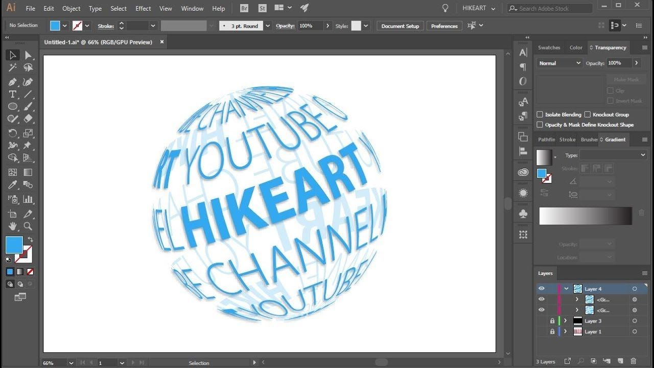How To Wrap Text Around A Transparent Sphere In Adobe Illustrator