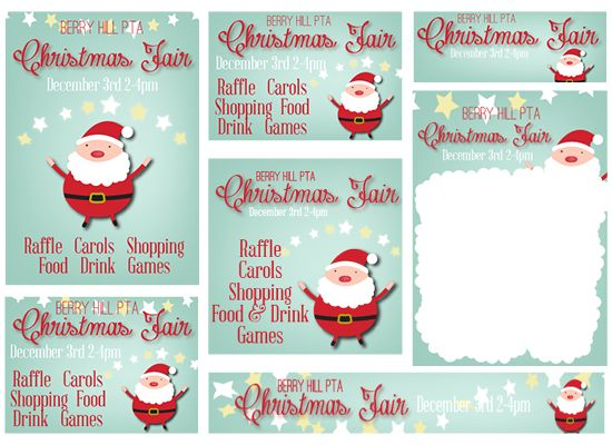 Christmas Fair Pta Template Poster Kit Products I Love Christmas