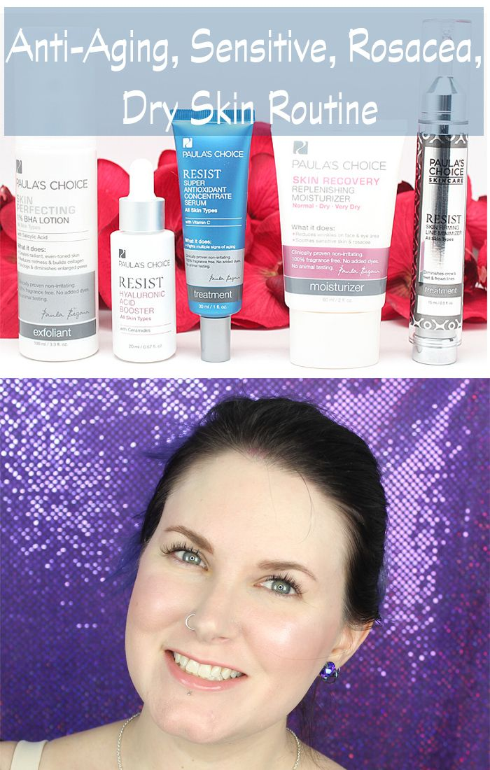 Makeup for dry mature rosacea