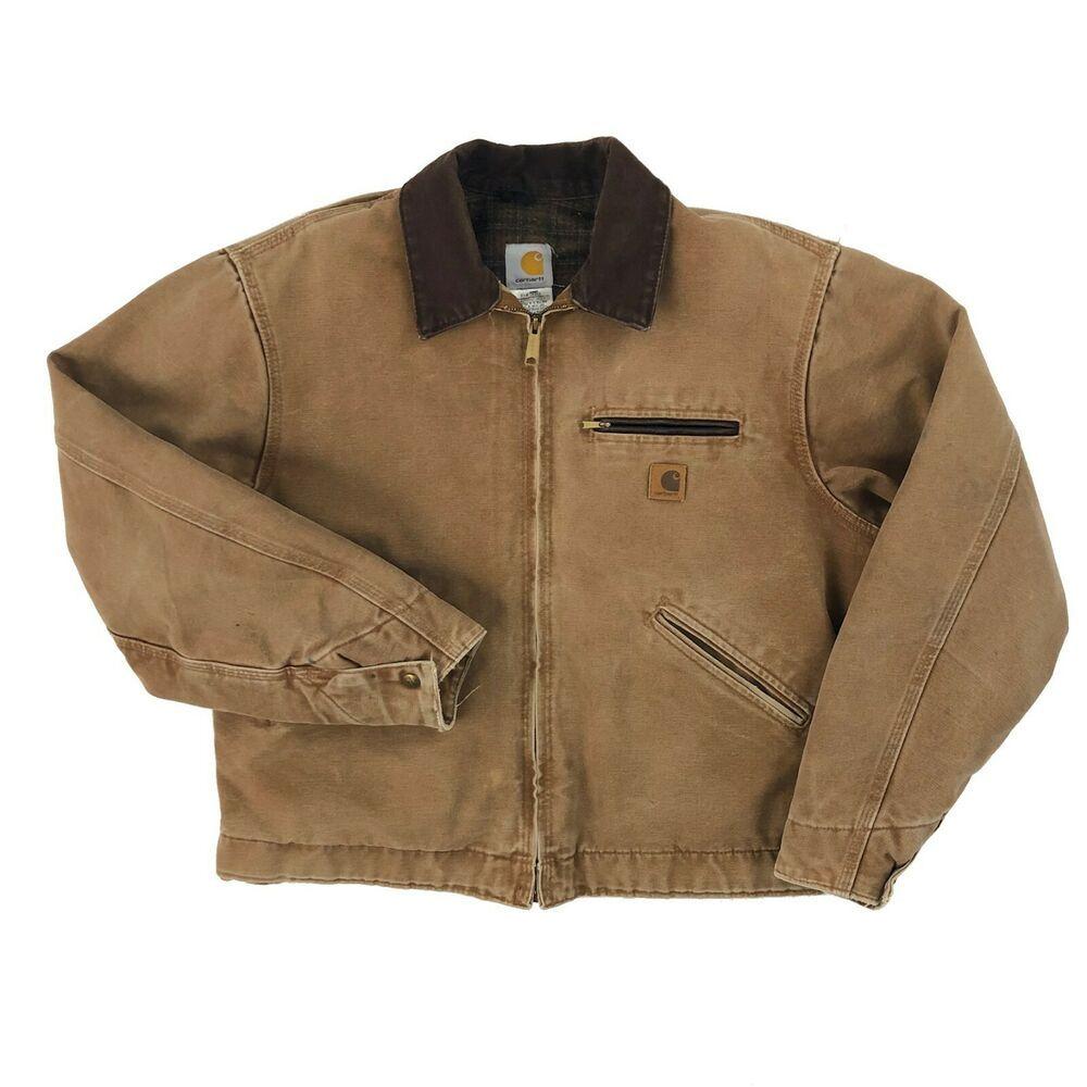 Vintage Carhartt Jacket Men S Large Wool Blanket Lined Work Wear
