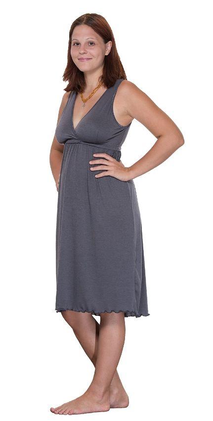 Amamante Signature Nursing Gown - Gray | Amamante Nursingwear ...