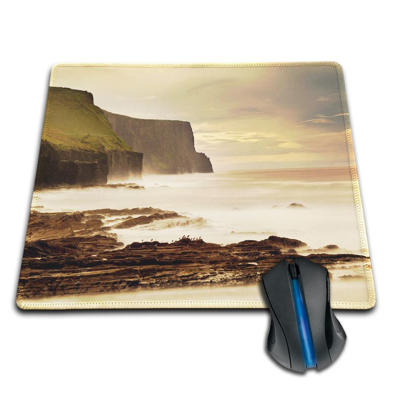 Rubber Mousepad Boy Gift Pad the cliffs of moher ireland Anime Rubber 180X220X2MM 250X290X2MM Mat Mouse Pad Customized Supported