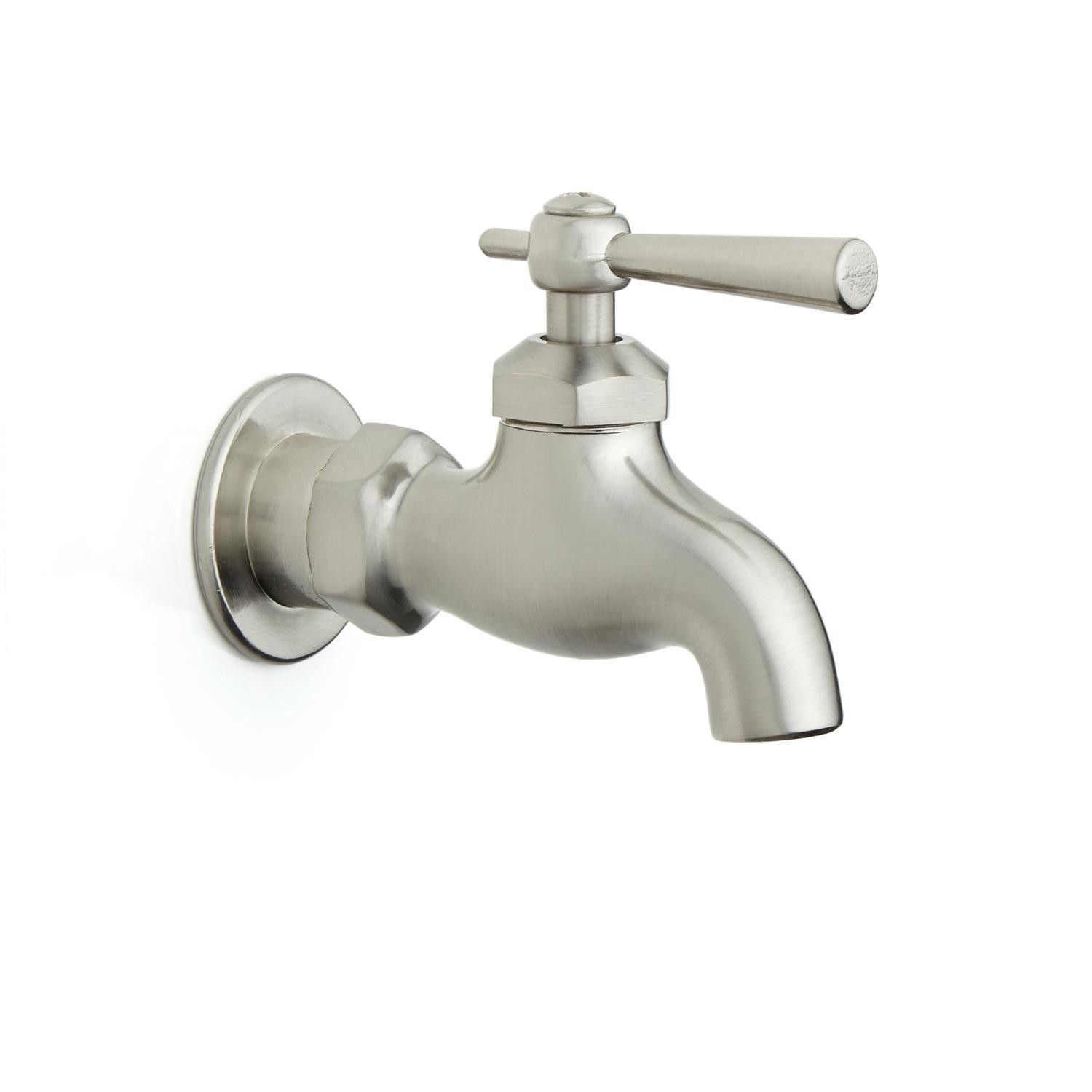 Single Wall Mount Faucet with Lever Handle HARDWARE