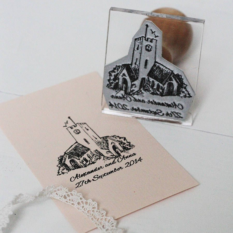 Personalised Church Wedding Stamp By Stomp Stamps