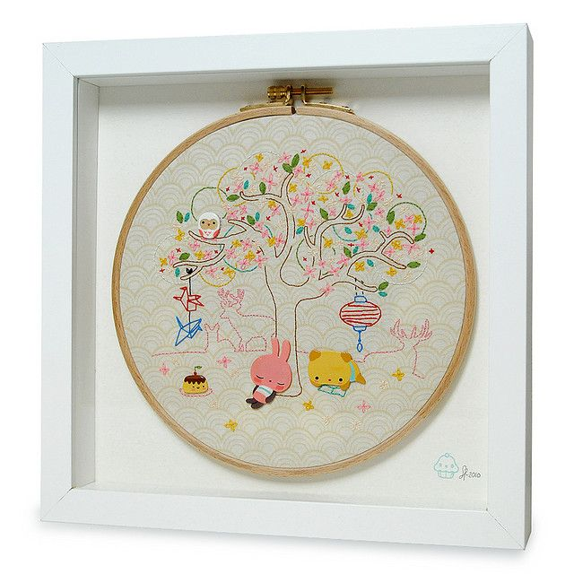 Our favourite tree embroidery for Rivet gallery´s Über cute show ...