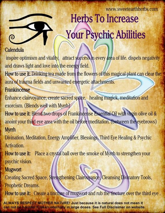 NEW! Herbs that Open and Increase Your Psychic Abi