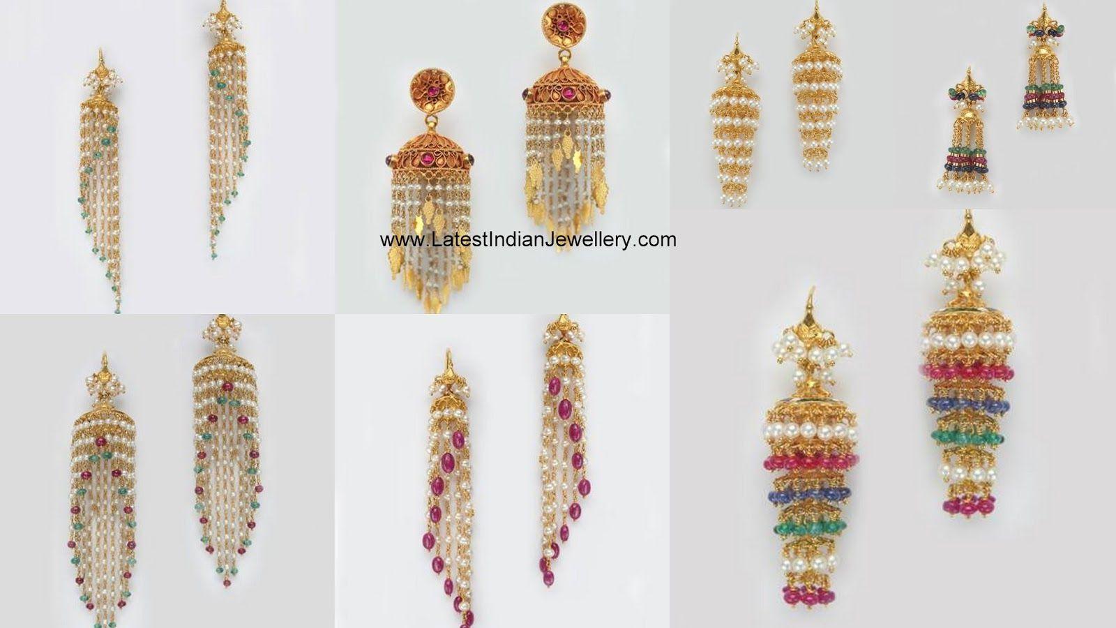 5cd33d175bb2d5 Light Weight Pearl Beads Jhumkas | jewellery | Light weight gold ...