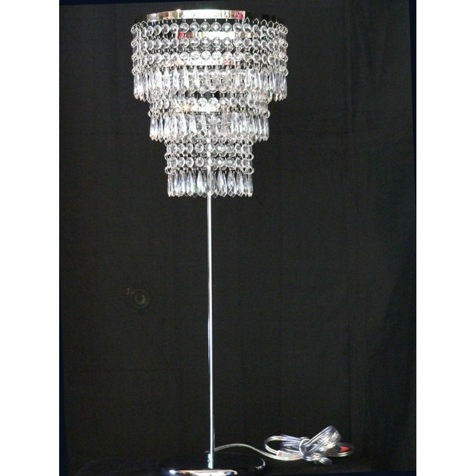 Crystal Table Chandelier Lamp ZTLLGS01 Wholesale Wedding Supplies Discount