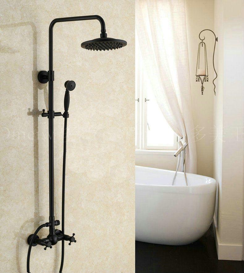 Oil Rubbed Bronze Shower Column Hand Shower 8 Rain Shower Head