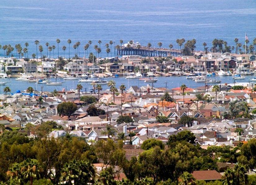 Newport Beach Ca California Orange County Panoramic Views Of The Pacific