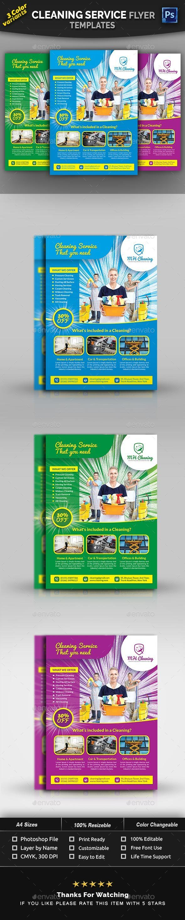 Cleaning Services Flyer Template Commerce Flyers