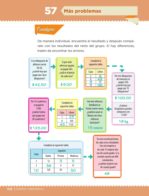 foto de Ayuda para tu tarea de Quinto Desafíos matemáticos Bloque 3 Más ...
