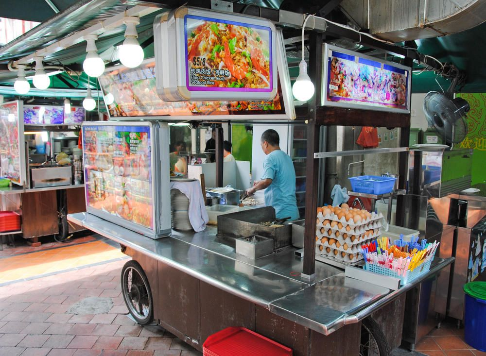 Chinese Street Food Cart  China Town Singapore  food