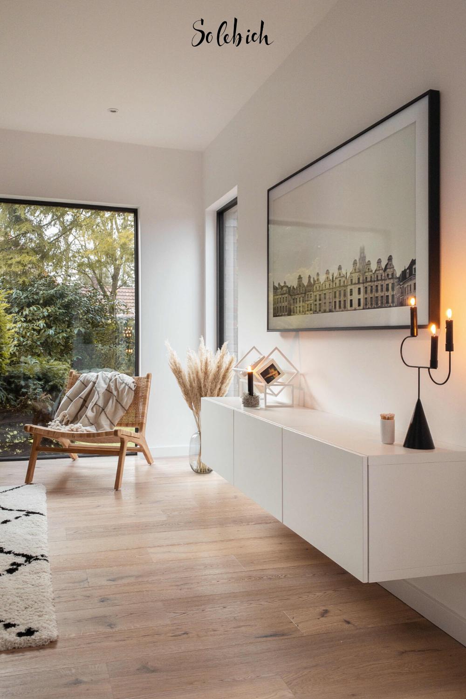 Hereinspaziert! 5 neue Wohnungseinblicke auf SoLebIch Foto: haus_tannenkamp #solebich #neue #einblicke #wohnzimmer #kommode #hell #weiß #modern #skandi #gemütlich