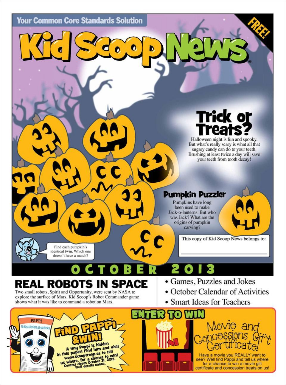 Fun and educational children's' newspaper designed to