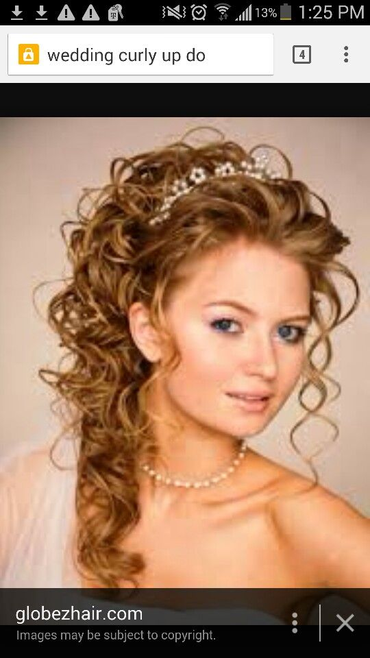 Curly hairstyle natural curly hair pinterest natural curly in current time it was not difficult to learn about simple wedding party hairstyles for long hair you can do yourself in case of wedding majority of female solutioingenieria Image collections
