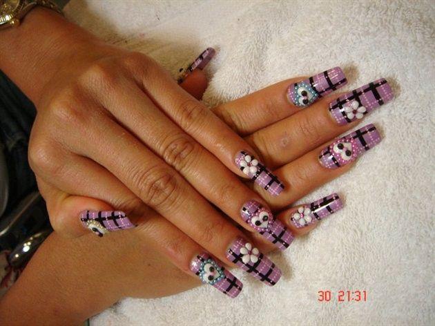 Long Acrylic Nails by NailArtMaria - Nail Art Gallery  nailartgallery.nailsmag.com by Nails - Long Acrylic Nails By NailArtMaria - Nail Art Gallery