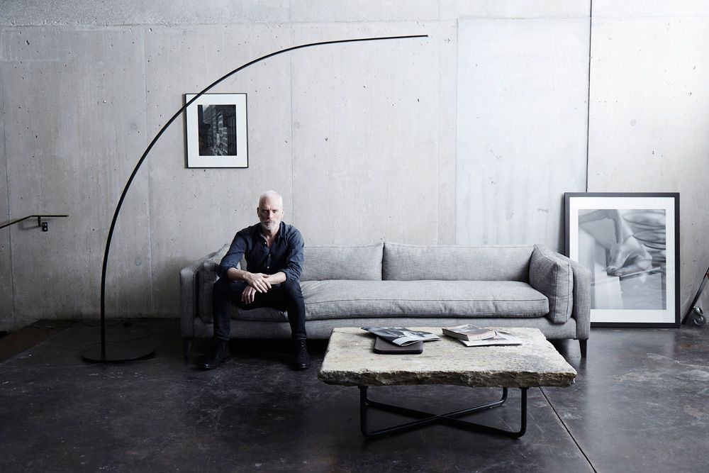Harris sofa concrete table yumi lamp at design pinterest concrete - Betontisch wohnzimmer ...