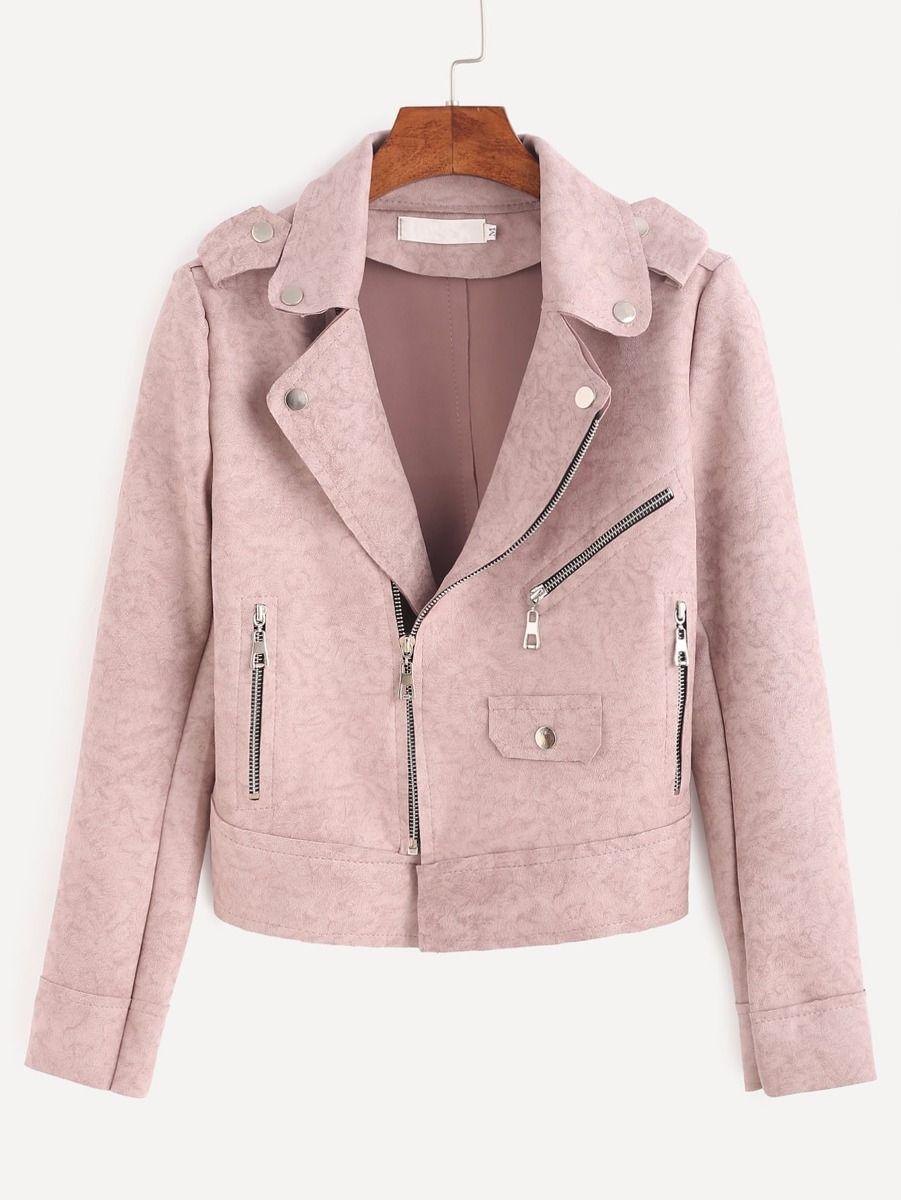 e2a15d6be08 CHAQUETA DE CUERO ROSA  chaqueta  chaquetadecuero  cuero